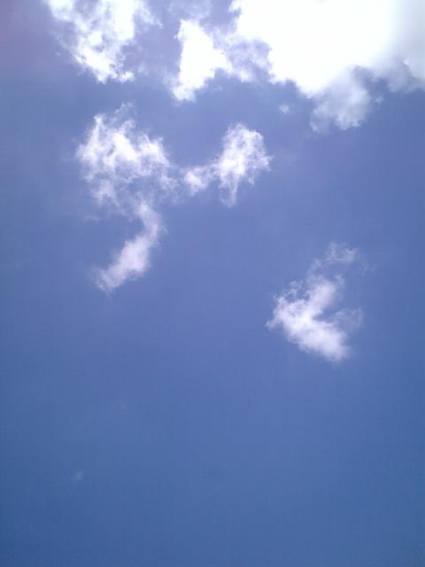 空は青くて綺麗